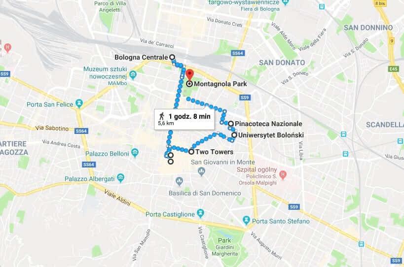 Trasa spaceru po Bolonii