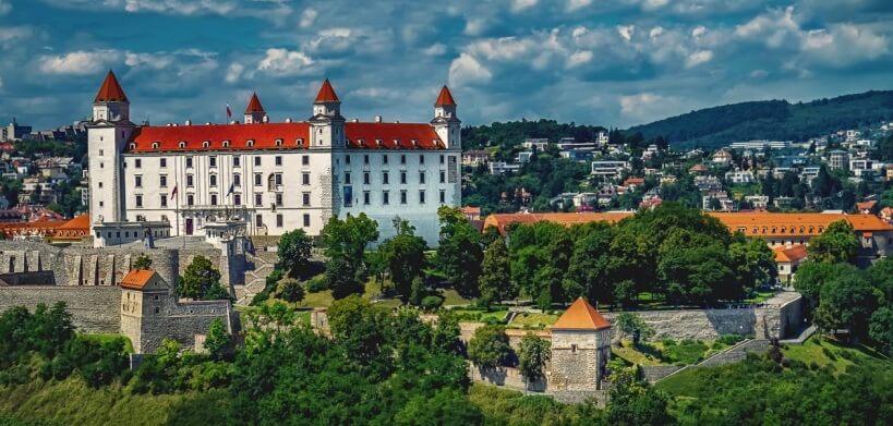 Pociągiem do Bratysławy - Zamek w Bratysławie