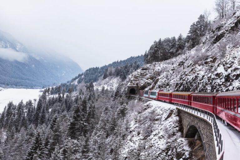 панорамный поезд Glacier Express